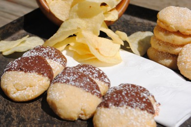 Рецепт Шоколадное печенье с картофельными чипсами