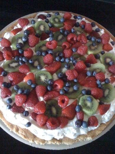 Рецепт Сладкая фруктовая пицца