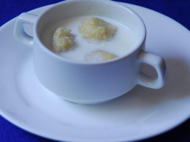 Суп с клецками картофельными на молоке рецепт