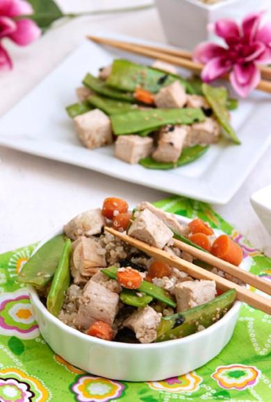 Рецепт Тофу с овощами и киноа