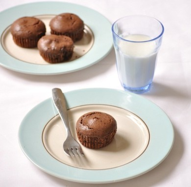 Рецепт Кексы с шоколадной начинкой