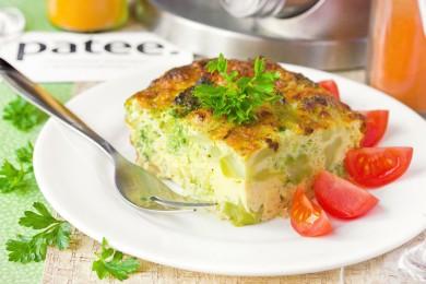 Рецепт Омлет с брокколи, приготовленный в духовке