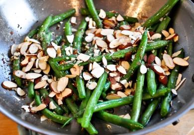 Рецепт Зеленая фасоль с миндалем