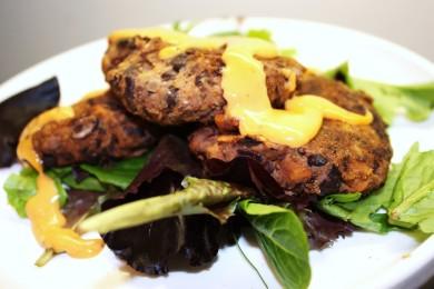 Рецепт Оладьи из фасоли и сладкого картофеля
