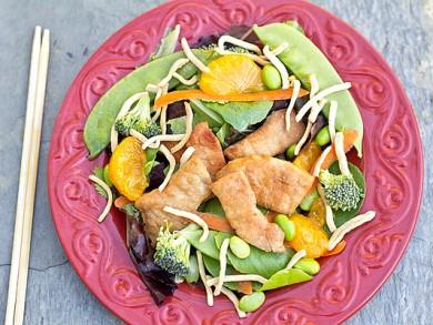 Рецепт Азиатский салат со свининой
