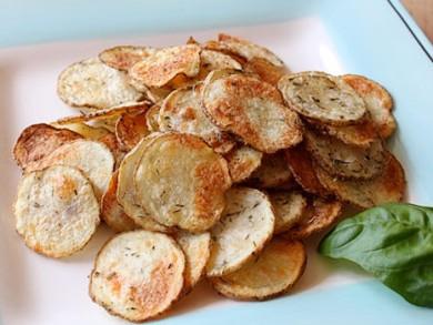 Рецепт Картофельные чипсы с сушеной зеленью