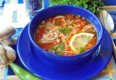 Томатный суп с вермишелью и грибами по-турецки