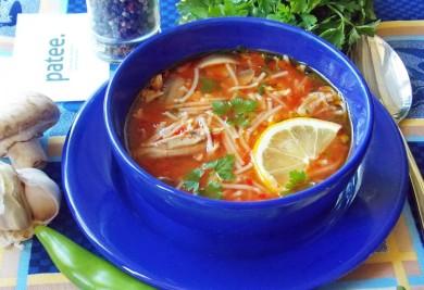Рецепт Томатный суп с вермишелью и грибами по-турецки