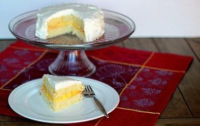 Рецепт Лимонный торт с взбитыми сливками