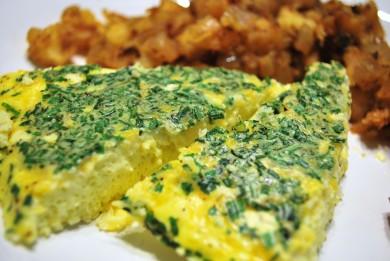 Рецепт Фриттата с чеддером и зеленью