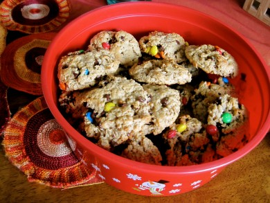 Рецепт Овсяное печенье с конфетами