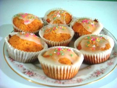Рецепт Кексы с сахарной глазурью