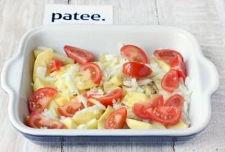 Скумбрия, запечённая с картофелем и помидорами - Шаг 8