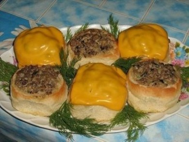 Рецепт Жульен в булочках
