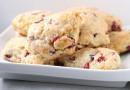 Лаймовое печенье с клюквой