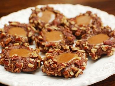 Рецепт Шоколадное печенье с карамелью