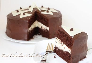 Рецепт Шоколадный торт с муссом и шоколадной глазурью