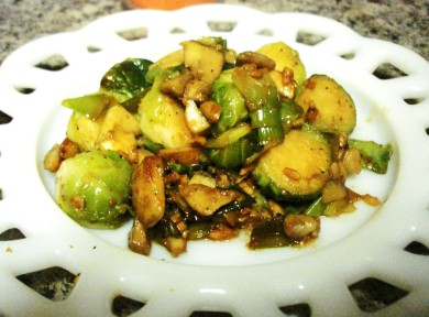 Рецепт Теплый салат из брюссельской капусты