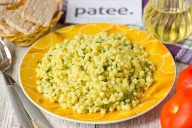 Рецепт Израильский кускус со шпинатом в сливочном соусе