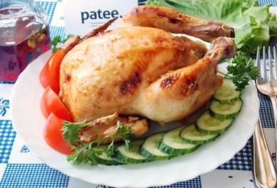 Рецепт Курица в медово-соевом соусе, фаршированная рисом и грибами