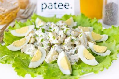 Рецепт Салат из молодого картофеля со сметанно-горчичной заправкой