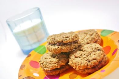 Рецепт Овсяное печенье-сэндвичи