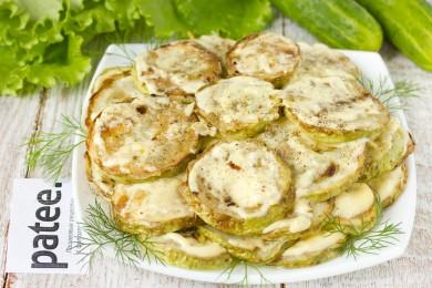 Рецепт Жареные кабачки с чесноком и майонезом