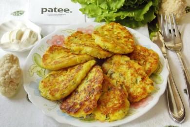 Рецепт Оладьи из цветной капусты с сыром