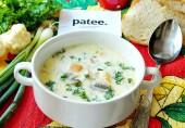 Суп с цветной капустой, ветчиной и сливками