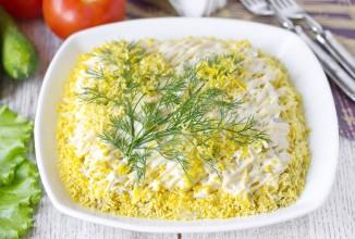 Салат Мимоза (классический рецепт) - приготовление
