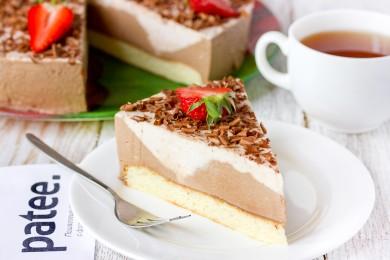 Рецепт Торт Клубнично-шоколадный баваруа