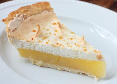 Рецепт Лимонный пирог с меренгой
