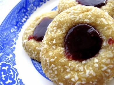 Рецепт Кокосовое печенье с джемом