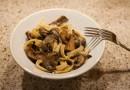 Паста с грибами и сыром