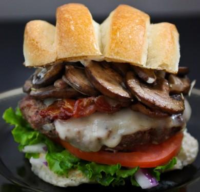 Рецепт Бургеры с грибами и сыром