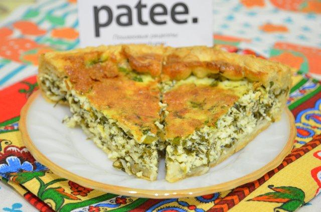 белье или пирог с творогом сыром и зеленью не сладкий даже самое высококачественное