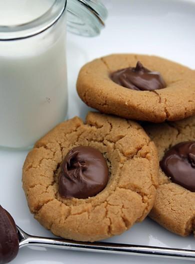 Рецепт Арахисовое печенье с нутеллой