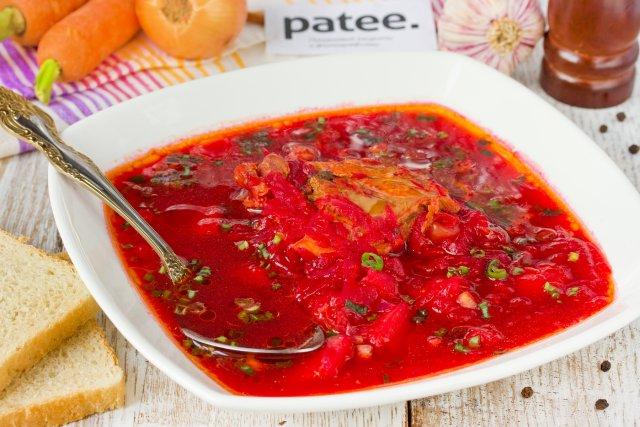 Свекольник горячий рецепт с мясом классический