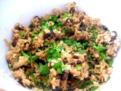 Рецепт Рис с черной фасолью