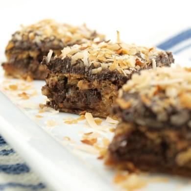 Рецепт Блонди с шоколадом и кокосовой стружкой