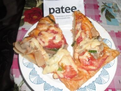 Рецепт   *Домашняя пицца для всей семьи на кефире*