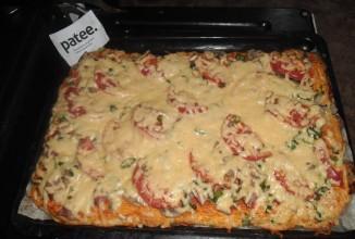 *Домашняя пицца для всей семьи на кефире* - приготовление