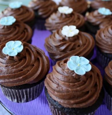 Рецепт Шоколадные кексы с малиной