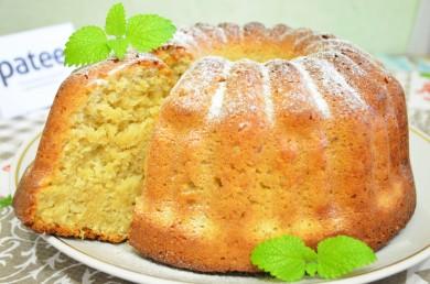 Рецепт Кокосовый пирог с овсяными хлопьями