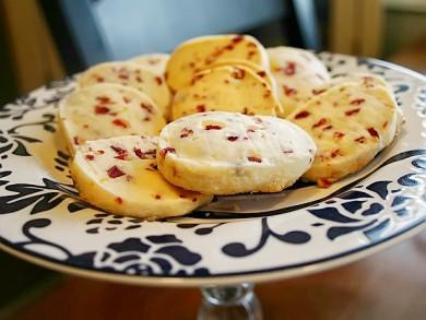 Рецепт Песочное печенье с клюквой