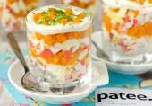 Салат с крабовыми палочками, морковью и яйцами