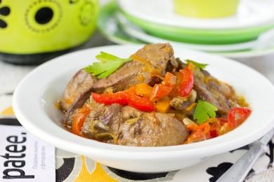 Рецепт Куриная печень с овощами