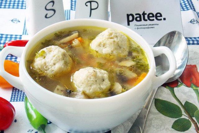 Рецепт сырного супа с фрикадельками и грибами рецепт