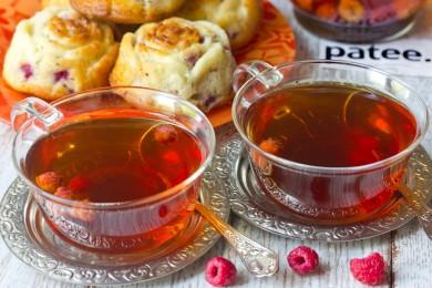 Рецепт Чай чёрный с малиной
