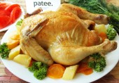 Курица, запеченная в рукаве с овощами